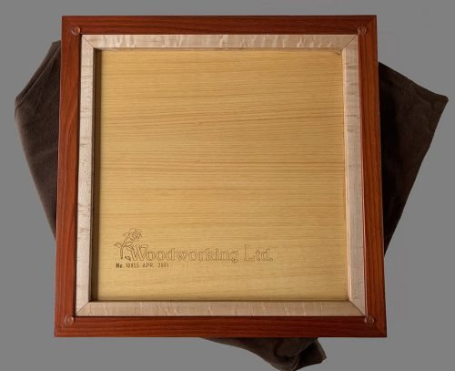 Birdseye Maple and Padauk Signature Chessboard