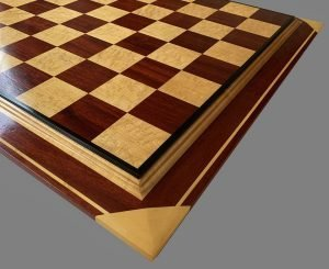 Curly Maple and Padauk Premium Chessboard