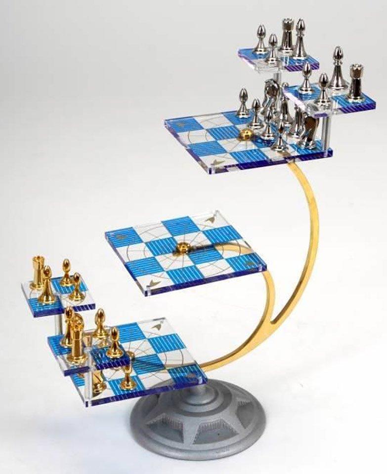 Franklin Mint Star Trek Tridimensional Chess Set Chessantiques Com