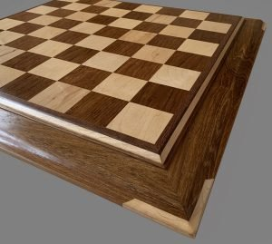 Hard Maple and Teak Signature Chessboard