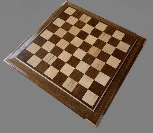 Hard Maple and Teak Signature Chessboard