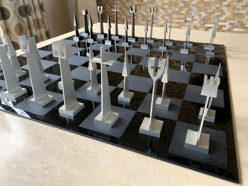 ALCOA Aluminum Chess Set