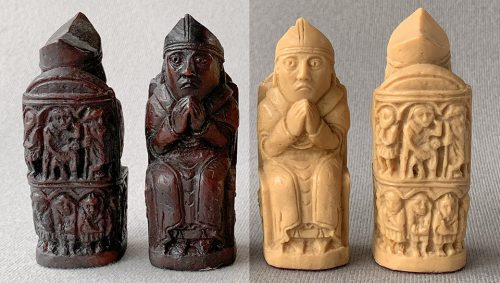 Isle of Lewis Chessmen, Brown and Ivory