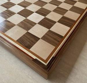 Birdseye Maple and Black Walnut Maple Premium Chessboard