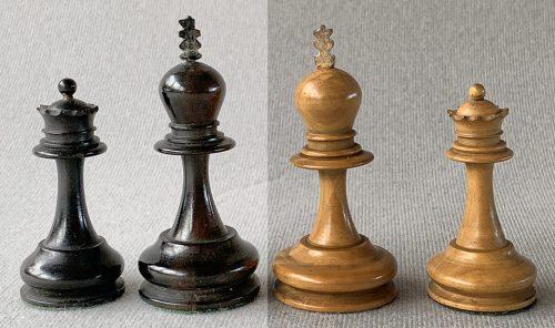 Antique Hybrid English Staunton Chessmen