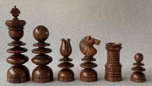 Rosewood Jaques English Pattern Chess Set