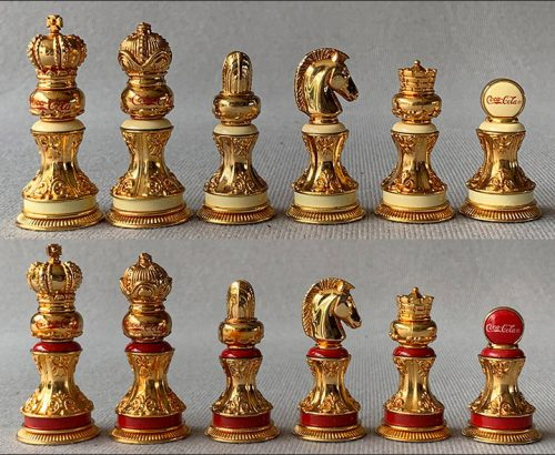 Coca Cola Stained Glass Chess Set