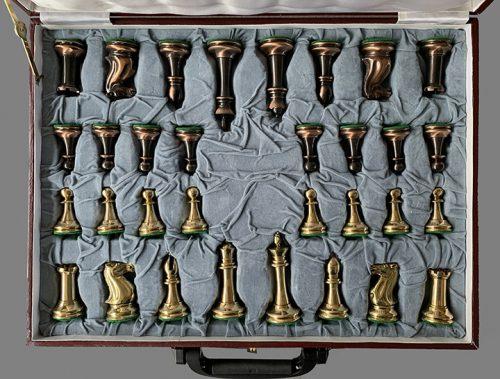 Collector Series Brass Chessmen