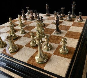 Collector Series Brass Chessmen
