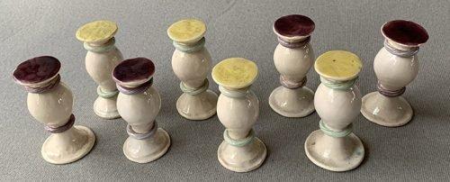 French Figural Ceramic Chessmen. David Haffler Collection