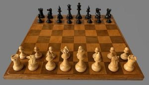 Small Antique English Mahogany Chessboard