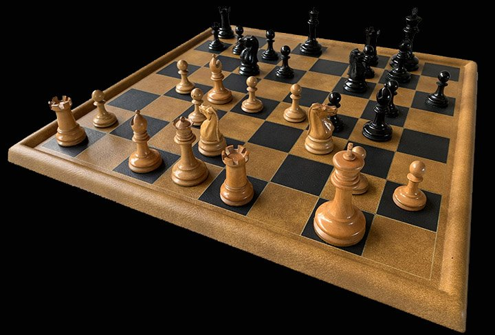 Leather Tournament Chessboard