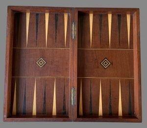 Victorian Folding Chess Backgammon Board Box