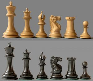 Reproduction 1853 Jaques Paulsen Chessmen