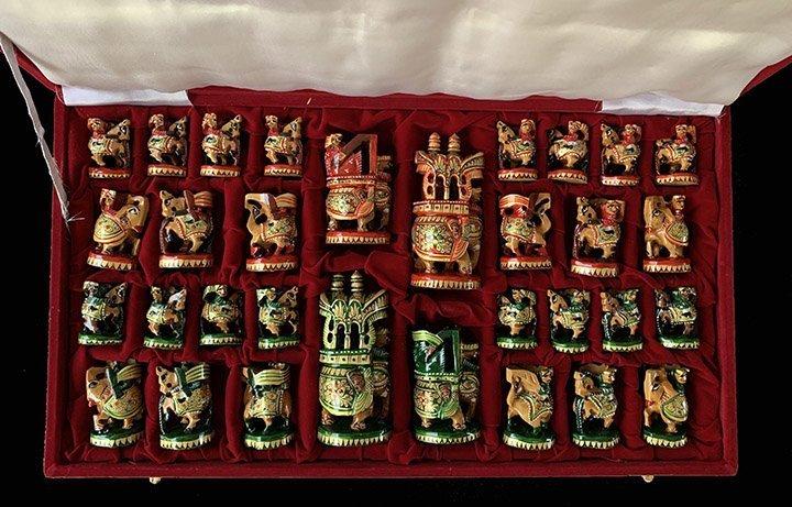 Modern Rajasthan Polychrome Chessmen