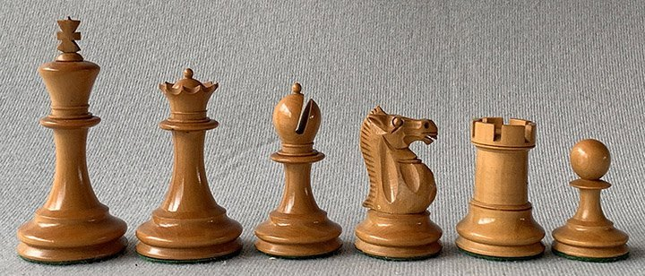 Antique Nimzowitsch-Style Staunton Chessmen