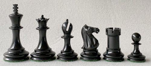 Antique Nimzowitsch-Style Staunton Chessmen