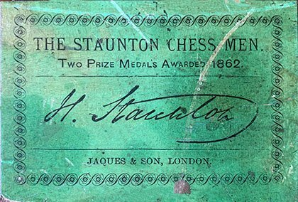 Jaques Late Anderssen Staunton Chessmen, Tournament Size, Circa 1862