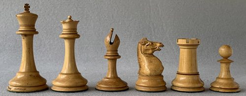 Jaques Anderssen Staunton Chessmen, Tournament Size, Circa 1860