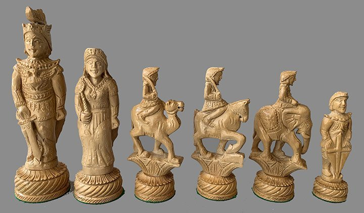 Alexander Hand Carved Chessmen
