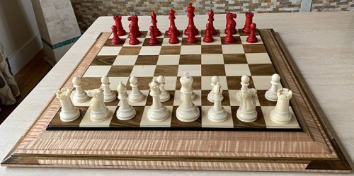 Tournament Size Late Victorian British Staunton Chessmen