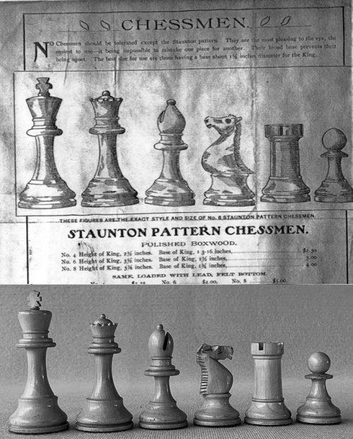 Will H. Lyons Tournament Staunton Chessmen