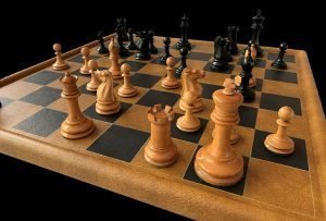 Antique Jaques Zukertort Chessmen, Tournament Size