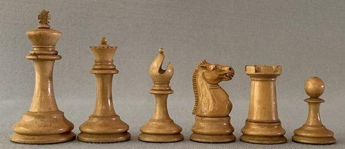 Jaques Zukertort Weighted Chessmen, Tournament Size