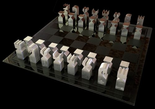 1966 Austin Enterprises Modernistic Chess Pieces