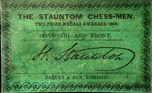 Jaques Early Anderssen Staunton Chessmen, Tournament Size, Circa 1858