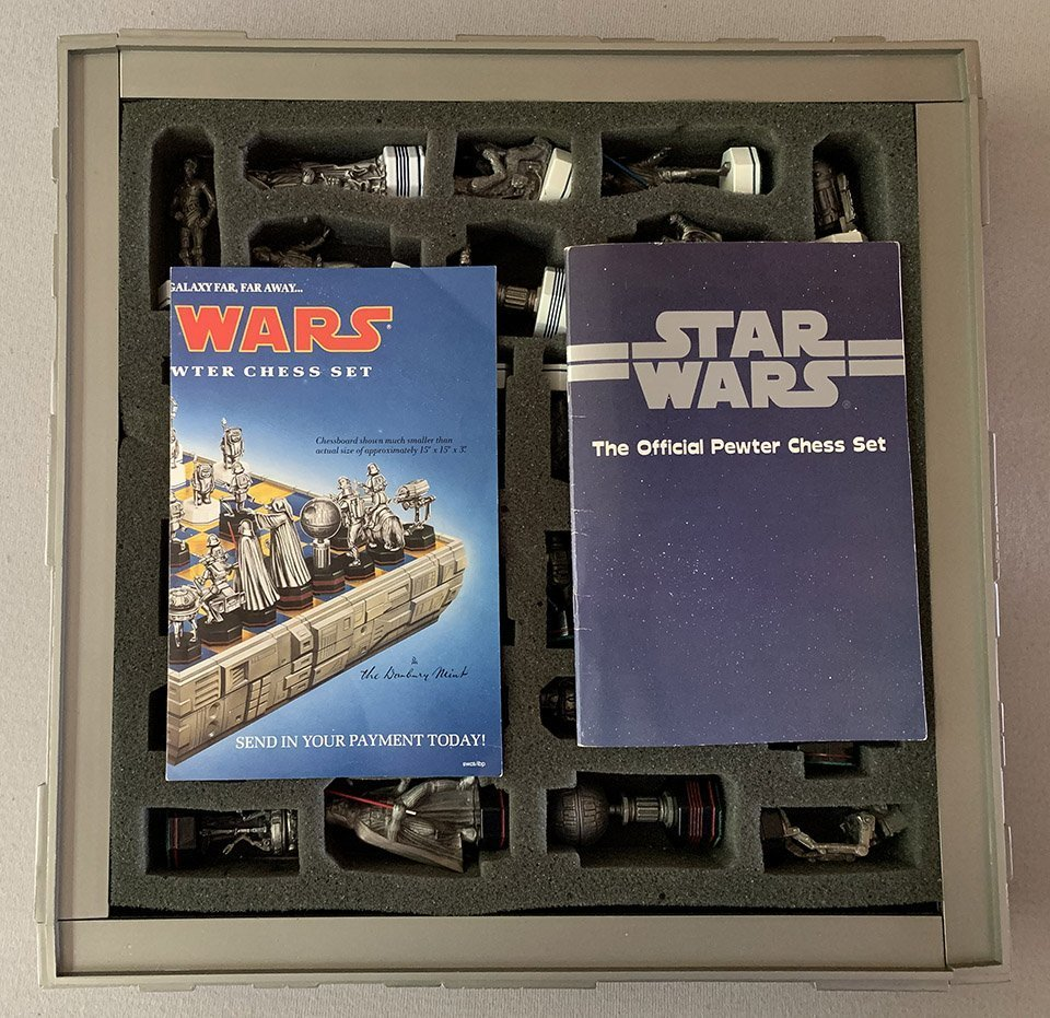 The Danbury Mint Star Wars Chess Set