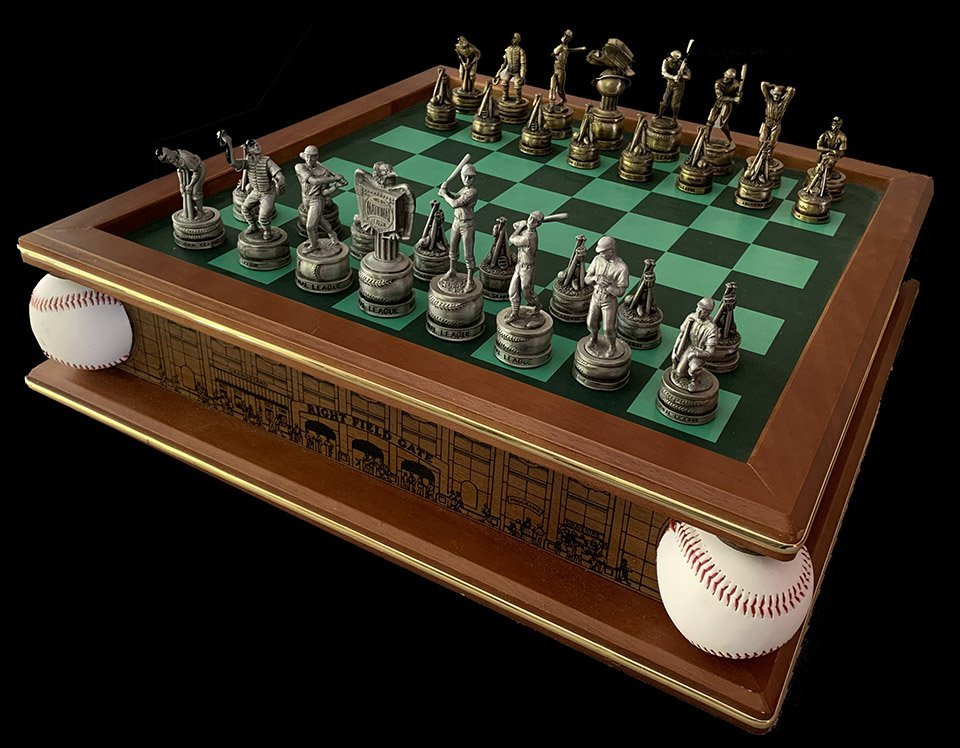 The Golden Age of Baseball Chess Set by the Danbury Mint