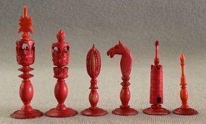 Antique Indo Burmese Chessmen, Type I