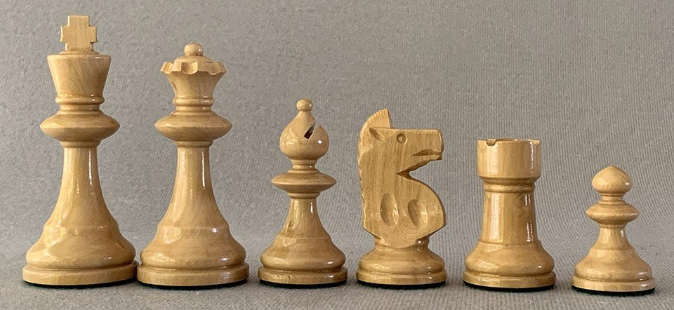 William T. Pinney Chess Set, Small Club Size.
