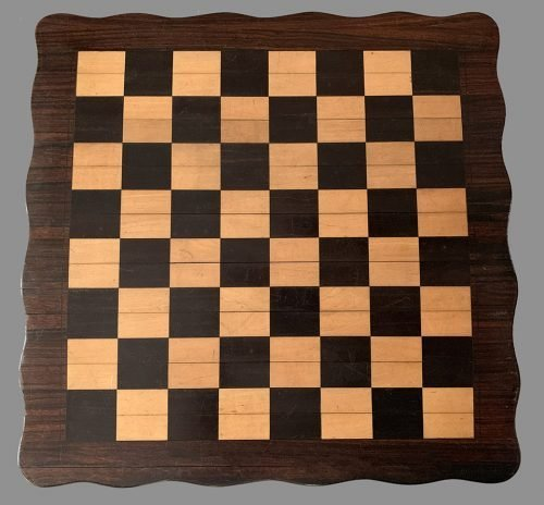 Antique Roll Up Wooden Chessboard