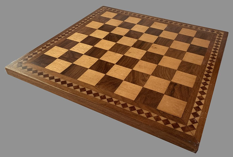 Satinwood Inlaid Chessboard