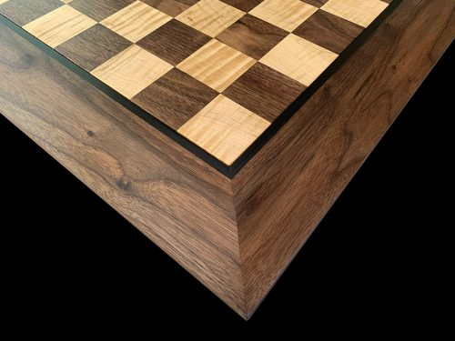 Curly Maple and American Walnut Chessboard