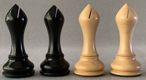 New Empire Modern Staunton Chessmen, Boxwood and Ebony