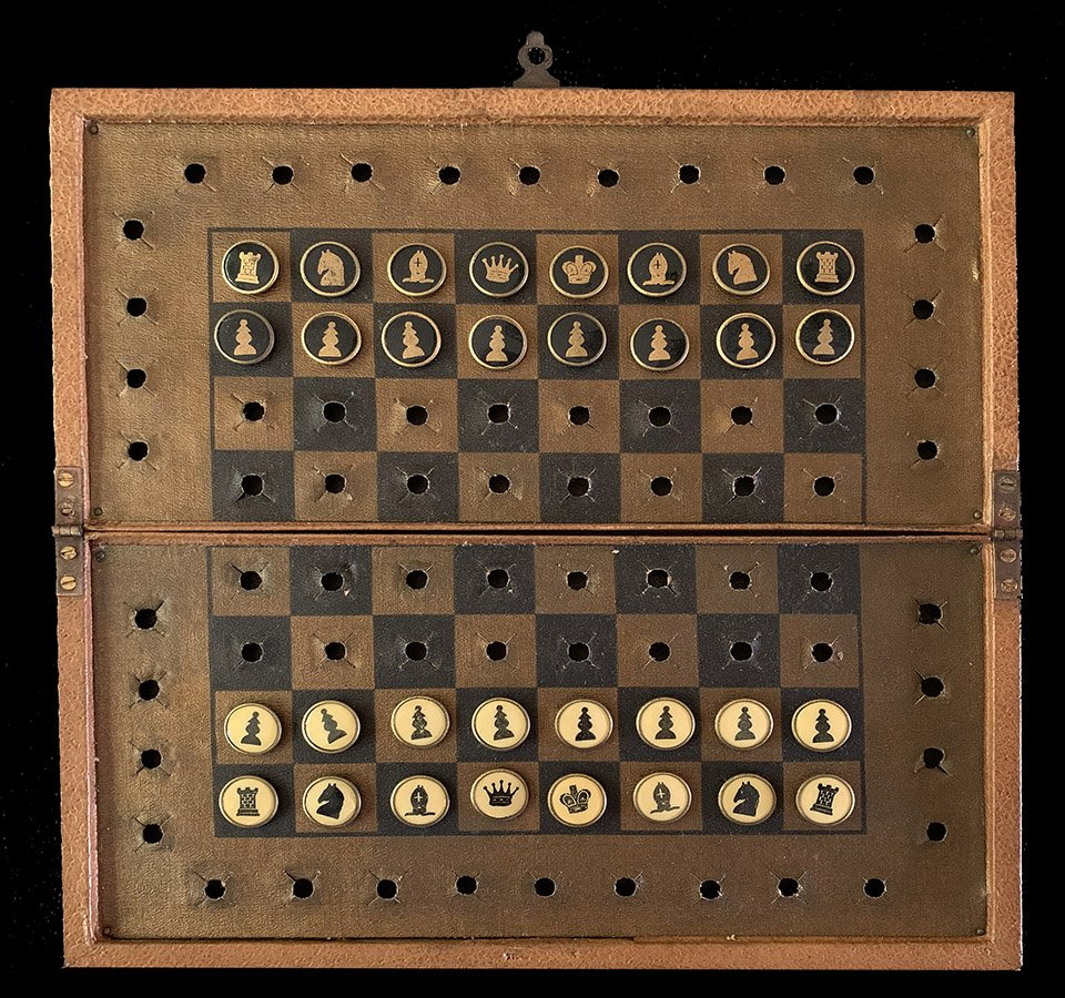 Button Stud Pocket Chess