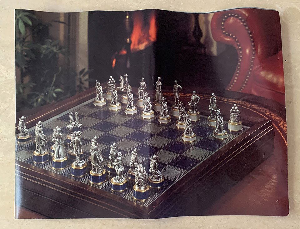 Details about  /1983 Franklin Mint Civil War National History Society Chess Confederate Pawn