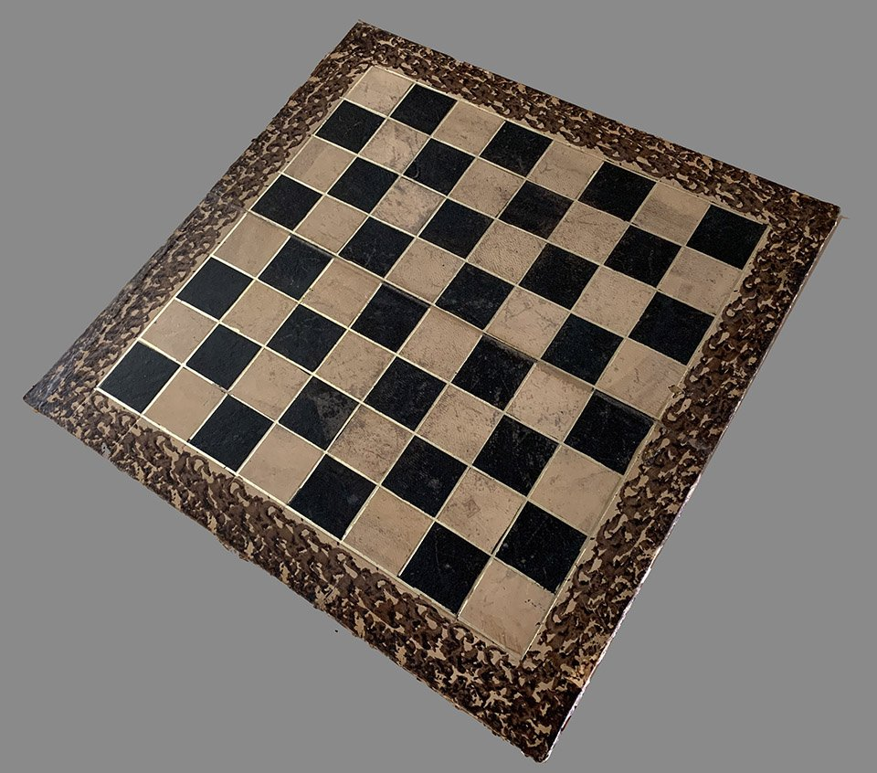 Antique Folding Chess Board