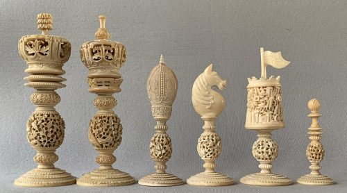 Majestic Antique Burmese Chessmen