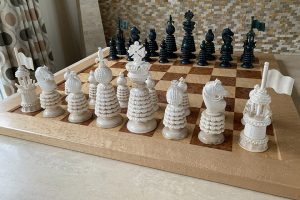 Large Charles Hastilow Style Chessmen by Oleg Raikis