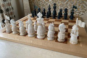 Large Charles Hastilow Style Chessmen by Oleg Raikis
