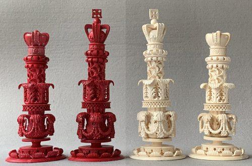 Large Kashmir Style Chessmen by Oleg Raikis