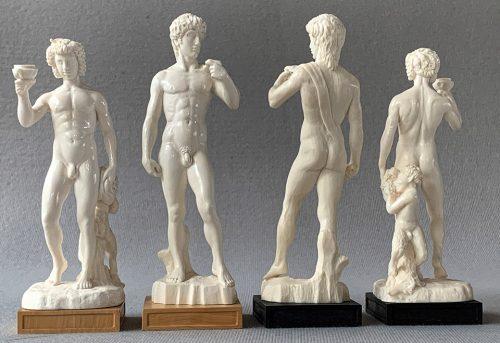 Michelangelo Mammoth Ivory Chessmen by Oleg Raikis