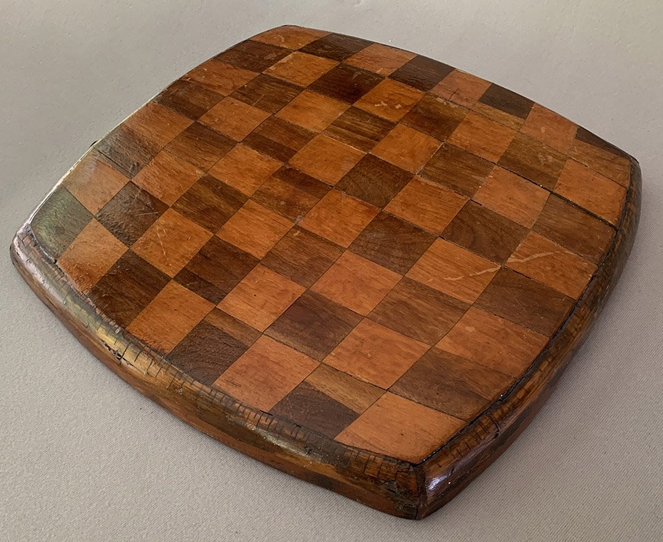 Louis Persinger Chessboard Made from His Chair Seat