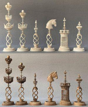 Danish Selenus Spiral Chessmen by Oleg Raikis