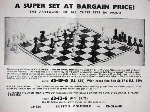 The Sutton Coldfield Staunton Chessmen