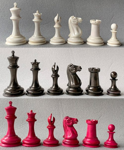Bone Nathaniel Cooke Staunton Chessmen